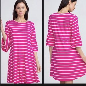 🌴 Summer Clearance🌴 Pink striped Yelete dress